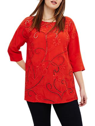 Studio 8 Karlie Embroidered Top, Red