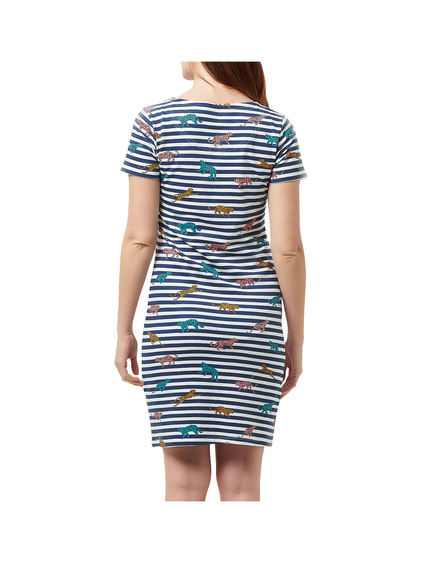 BuySugarhill Brighton Leopard Stripe Dress, Navy, 8 Online at johnlewis.com