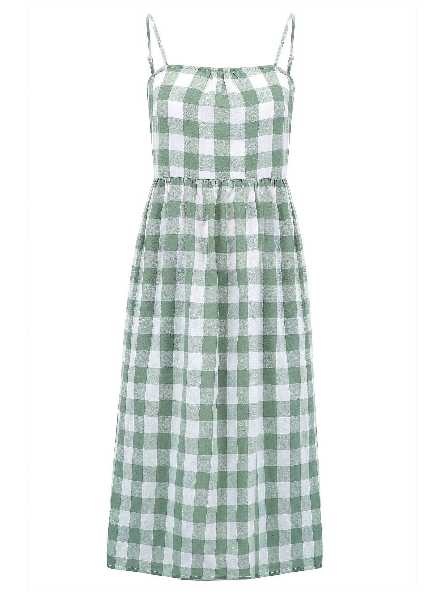 BuySugarhill Brighton Collette Check Sundress, White/Green, 8 Online at johnlewis.com