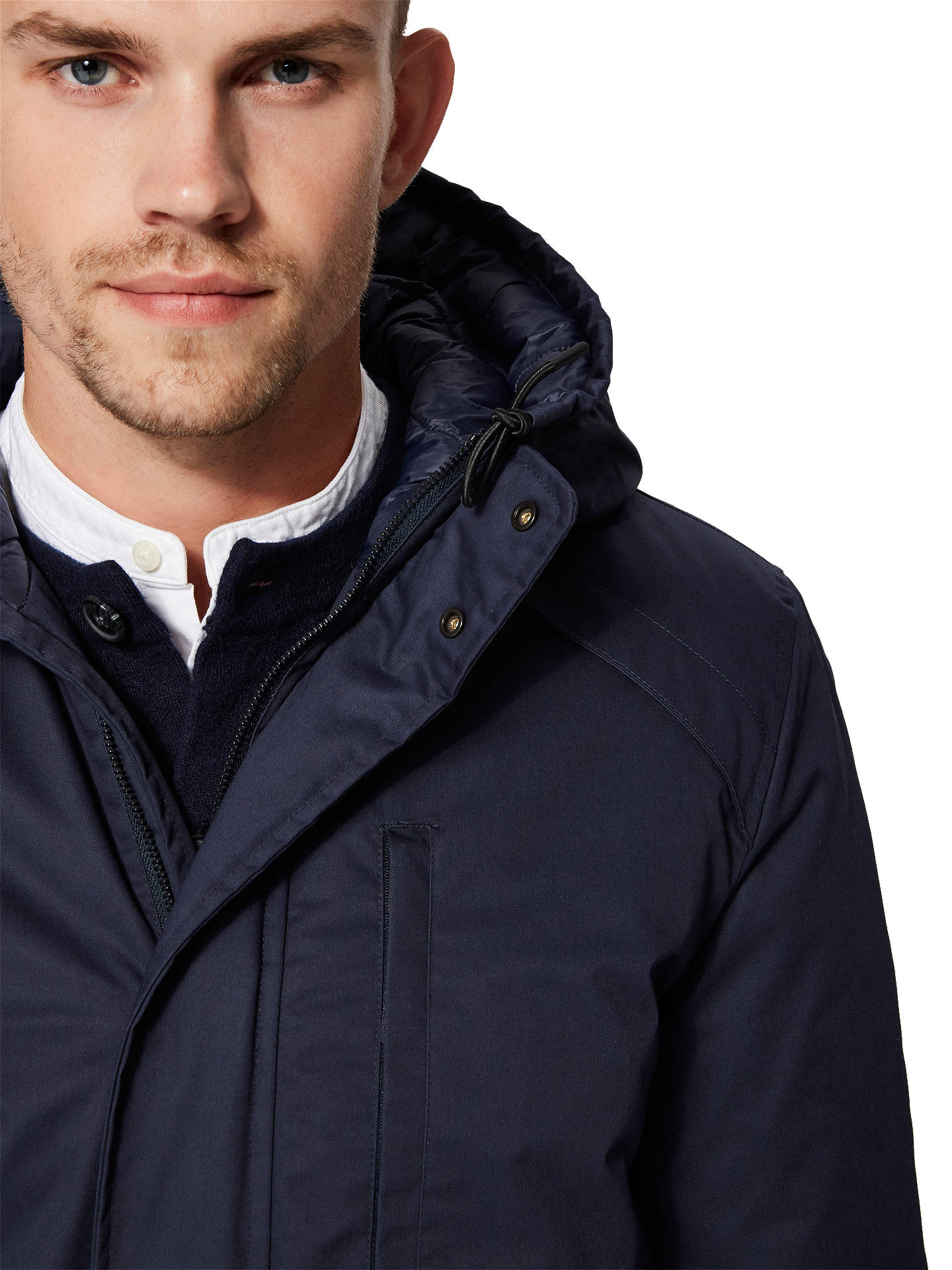 BuySELECTED HOMME Vinyl Tech Jacket, Blue, M Online at johnlewis.com