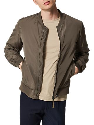 SELECTED HOMME Felix Recycled Polyester Bomber Jacket, Brown
