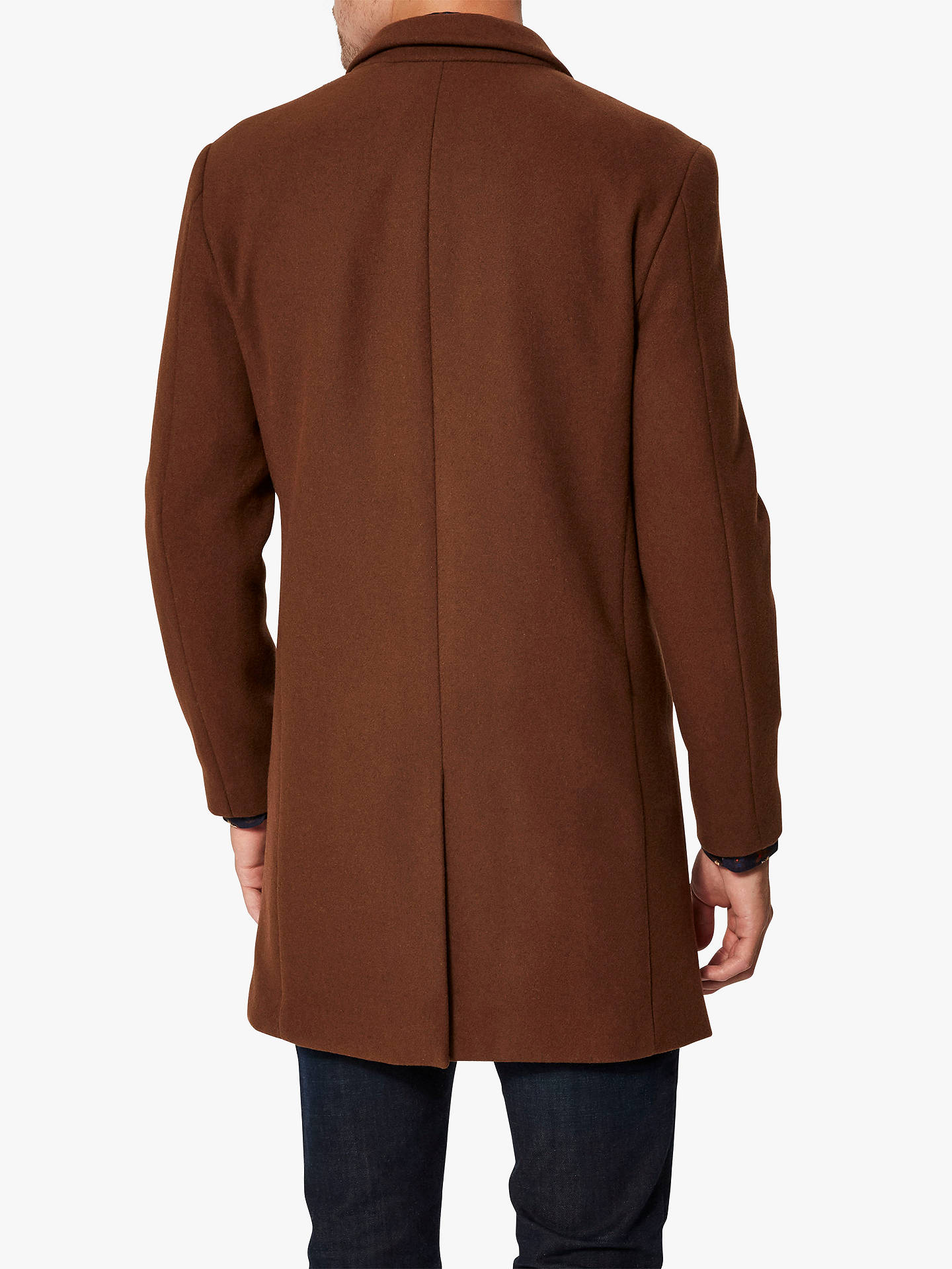 Buy Selected Homme Wool Coat, Brown, L Online at johnlewis.com
