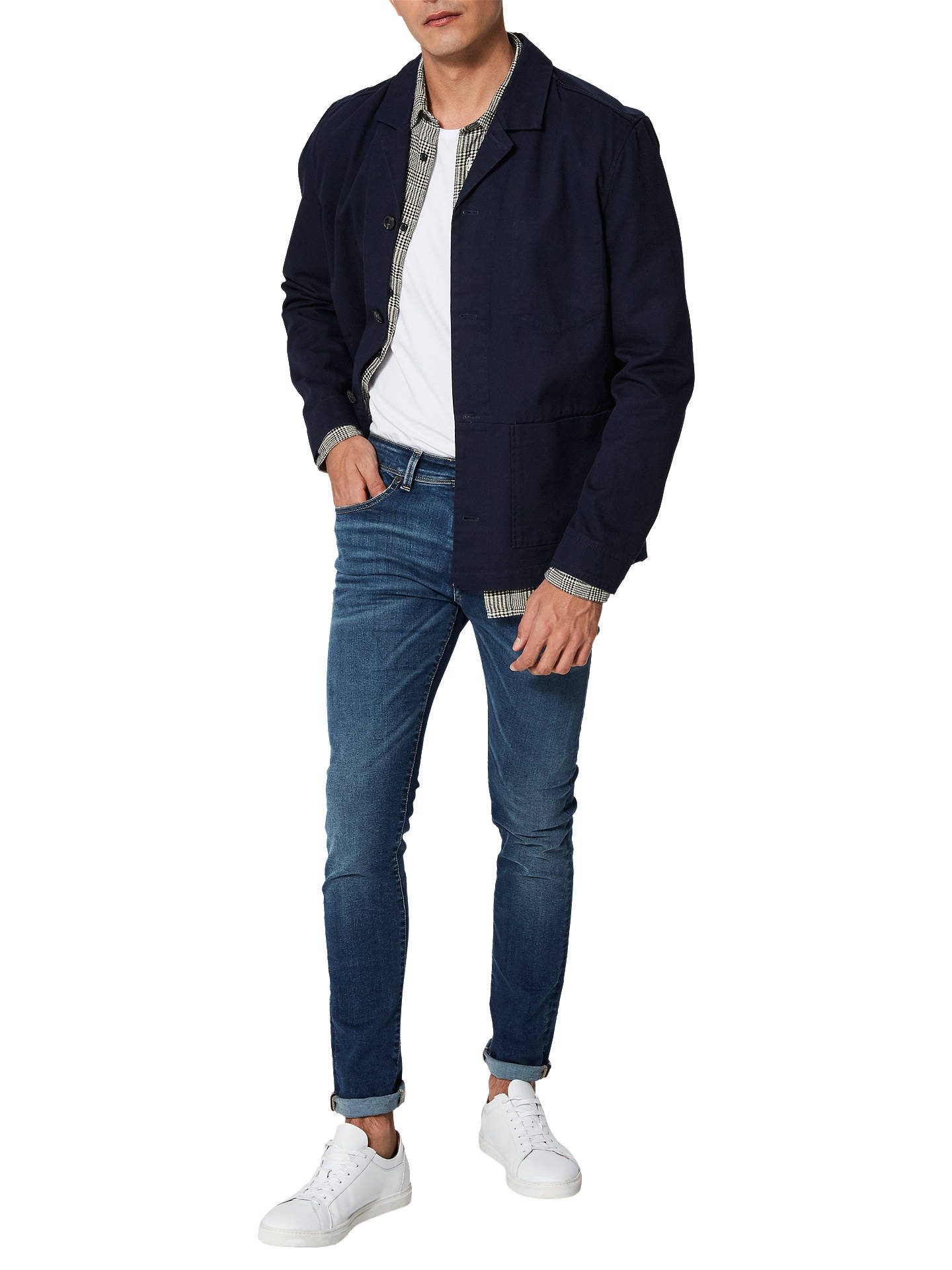 Buy SELECTED HOMME Anton Blazer Jacket, Blue, XL Online at johnlewis.com
