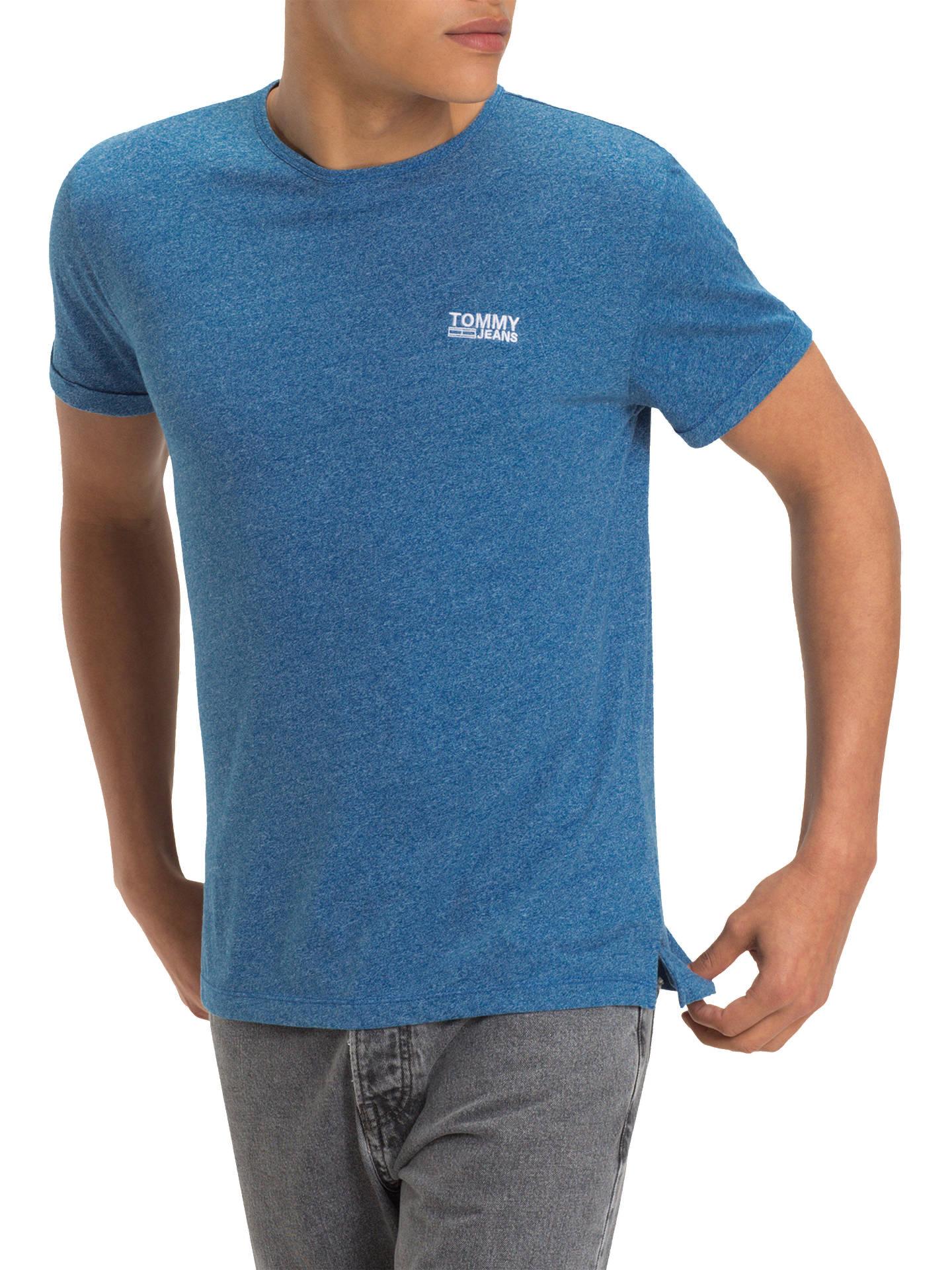 ed4cd3b79 Buy Tommy Jeans Modern Jaspe Crew Neck T-Shirt, Blue, XL Online at ...