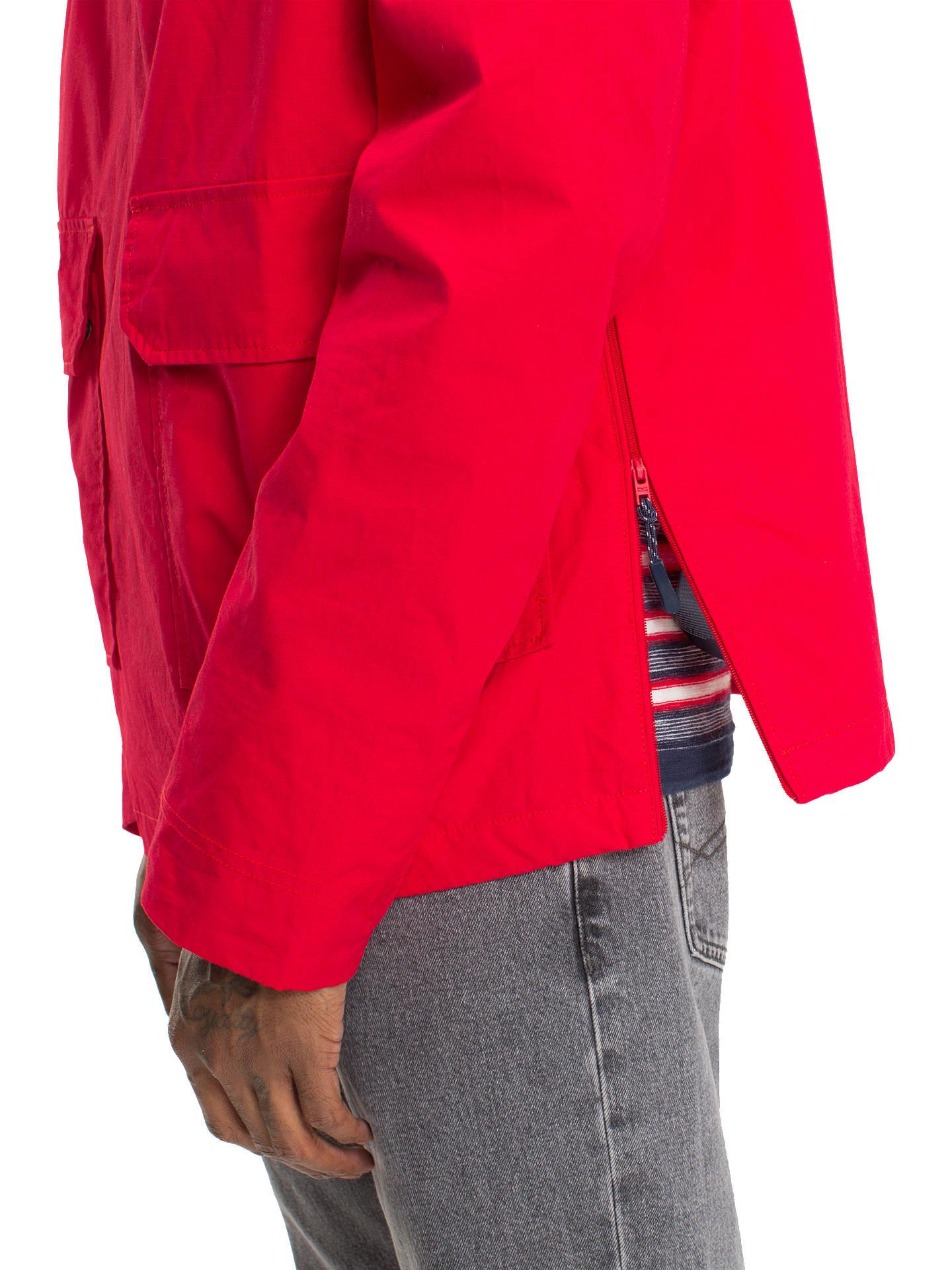 dc68ffd7 Buy Tommy Jeans Logo Half Zip Pullover Jacket, Red, M Online at johnlewis.