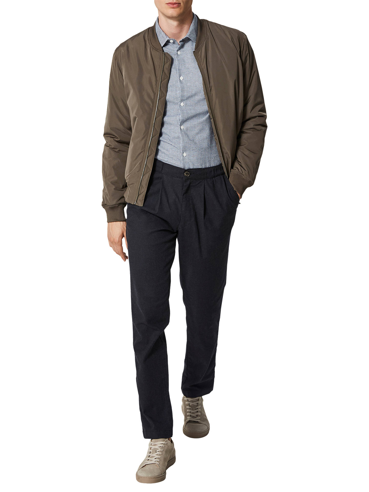 Buy SELECTED HOMME Walter Tapered Trousers, Antracit, XL Online at johnlewis.com