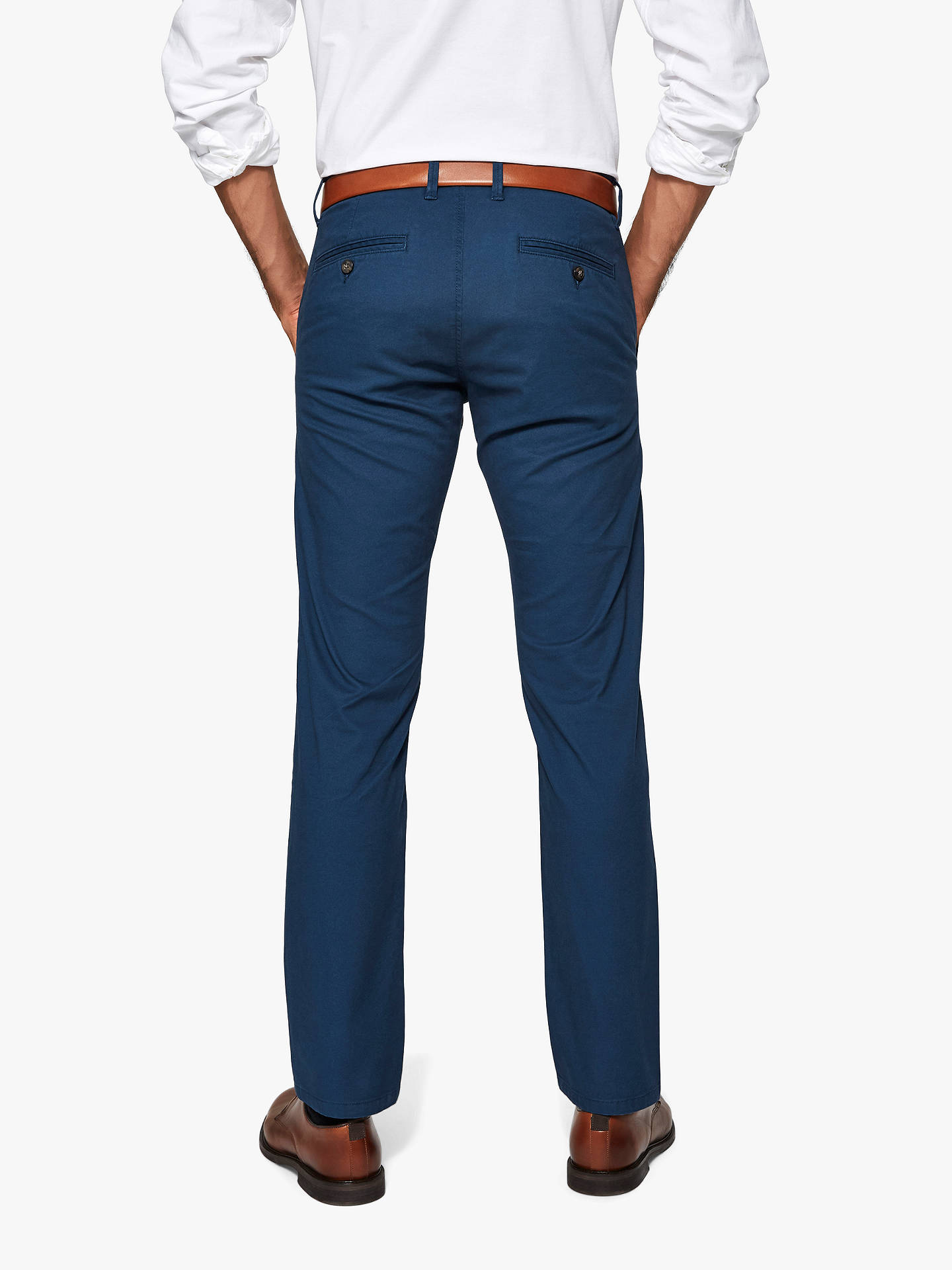 Buy SELECTED HOMME Three Paris Organic Cotton Stretch Chinos, Moonlit Ocean, 30R Online at johnlewis.com