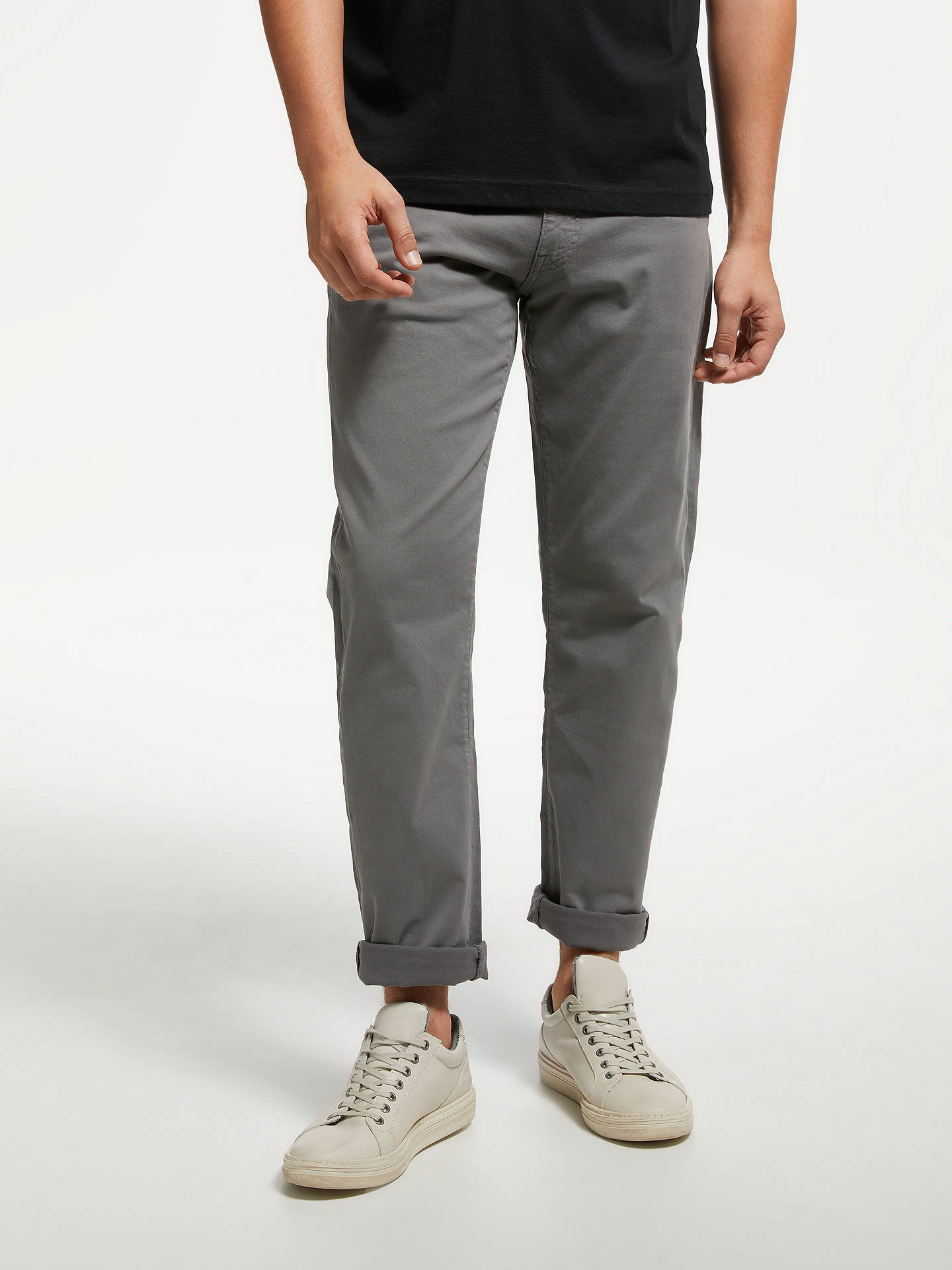 564392db38 Buy GANT Regular Straight Fit Desert Twill Jeans, Grey, 40R Online at  johnlewis.