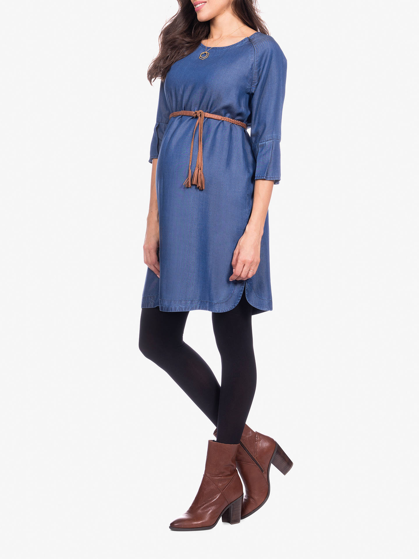 Buy Séraphine Bernice Chambray Maternity Dress, Blue, 8 Online at johnlewis.com