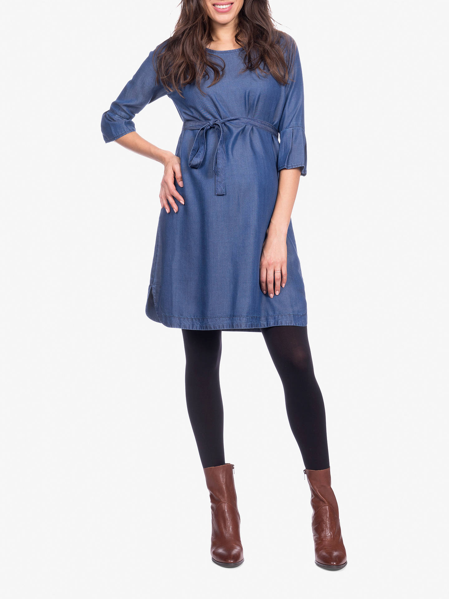 f1ad17ef86e99 ... Buy Séraphine Bernice Chambray Maternity Dress, Blue, 10 Online at  johnlewis.com ...