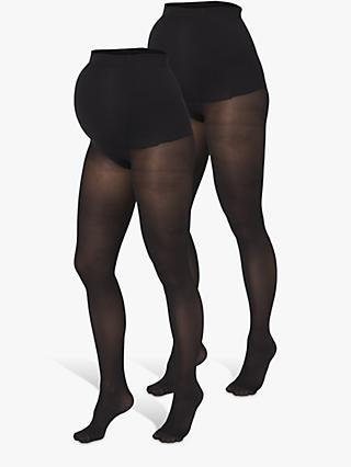 Mamalicious 50 Denier Maternity Tights, Pack of 2, Black