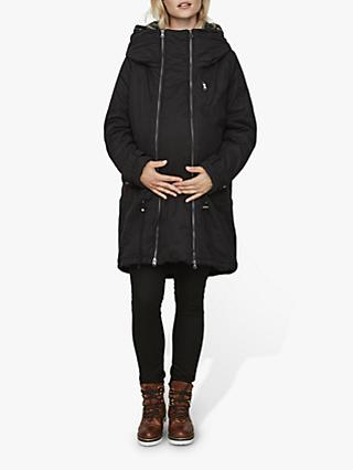 Mamalicious Tikka Carry Me Padded Maternity Jacket, Black