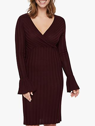 Mamalicious Zanne Tess Knitted Dress, Wine