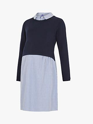 Séraphine Darla Two Piece Maternity Nursing Dress Navy Multi