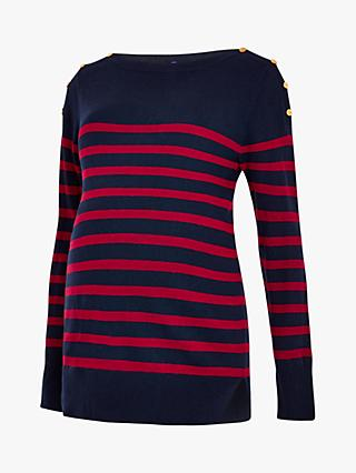 Séraphine Evelyn Stripe Knit Maternity Jumper
