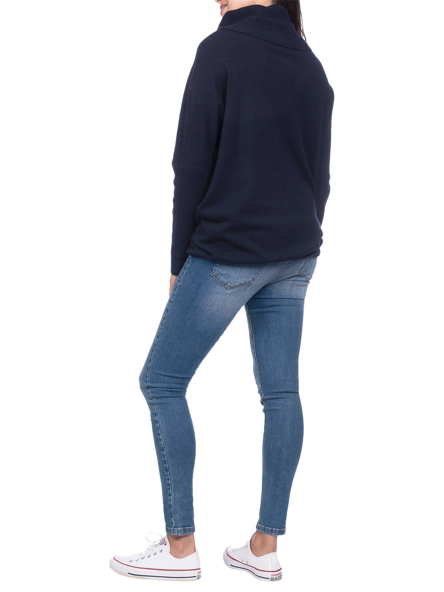 BuySéraphine Eda Roll Neck Drawstring Maternity and Nursing Jumper, Navy, S Online at johnlewis.com