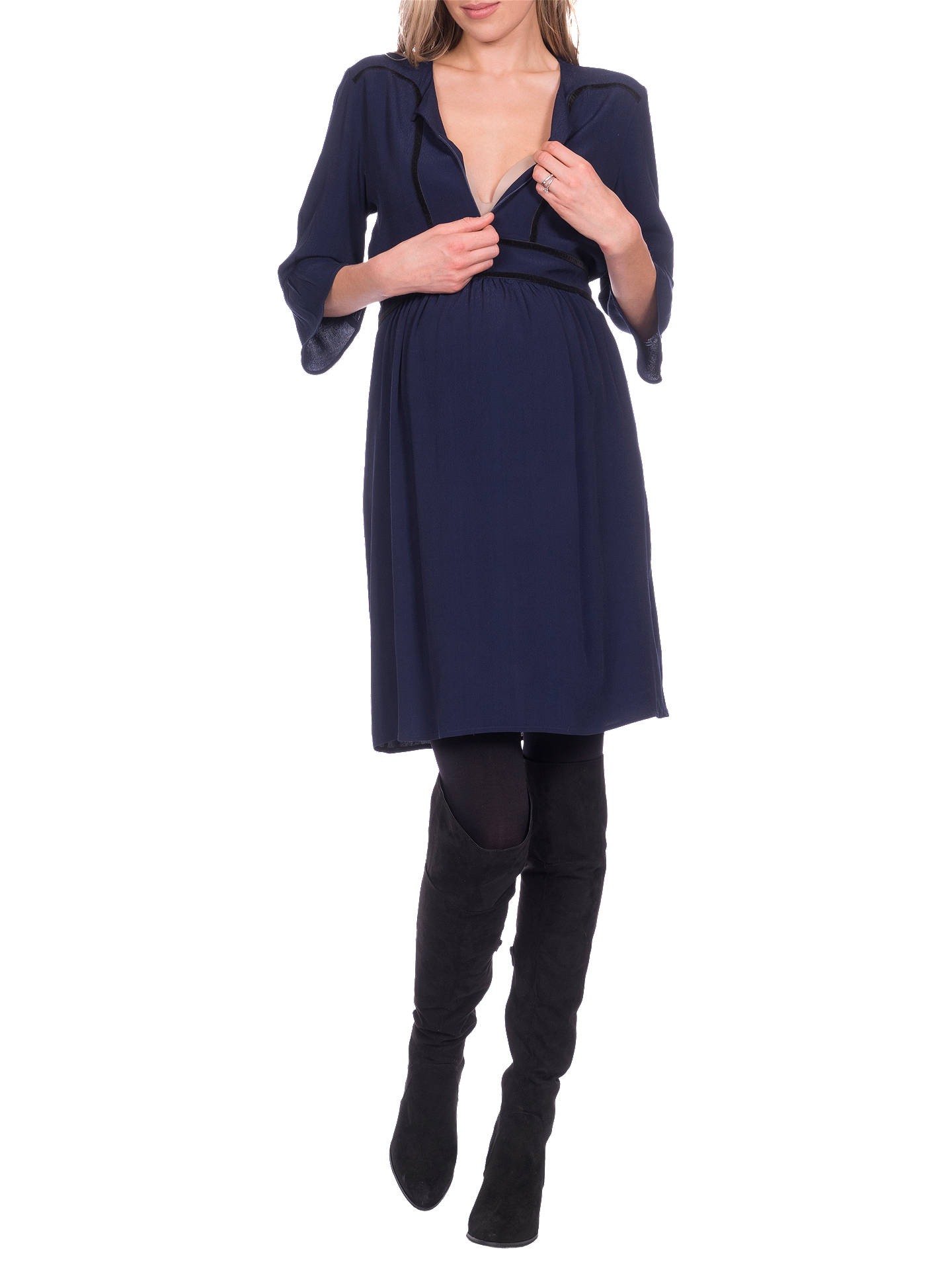 Buy Séraphine Andrea Maternity and Nursing Dress, Denim Blue, 8 Online at johnlewis.com