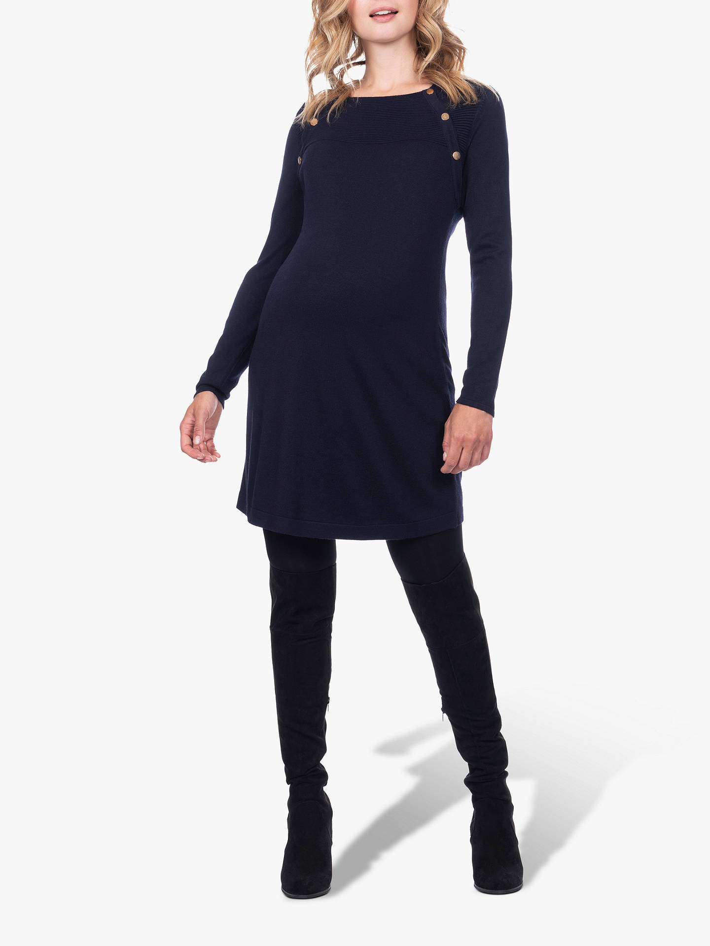 Buy Séraphine Eloise Knit Maternity and Nursing Dress, Navy/White, 8 Online at johnlewis.com