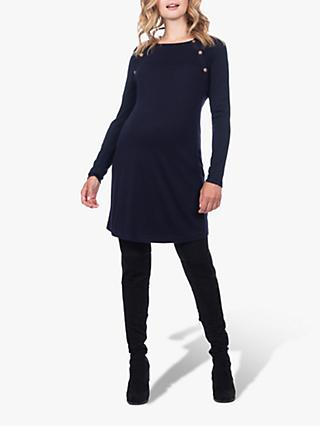 Séraphine Eloise Knit Maternity and Nursing Dress, Navy/White