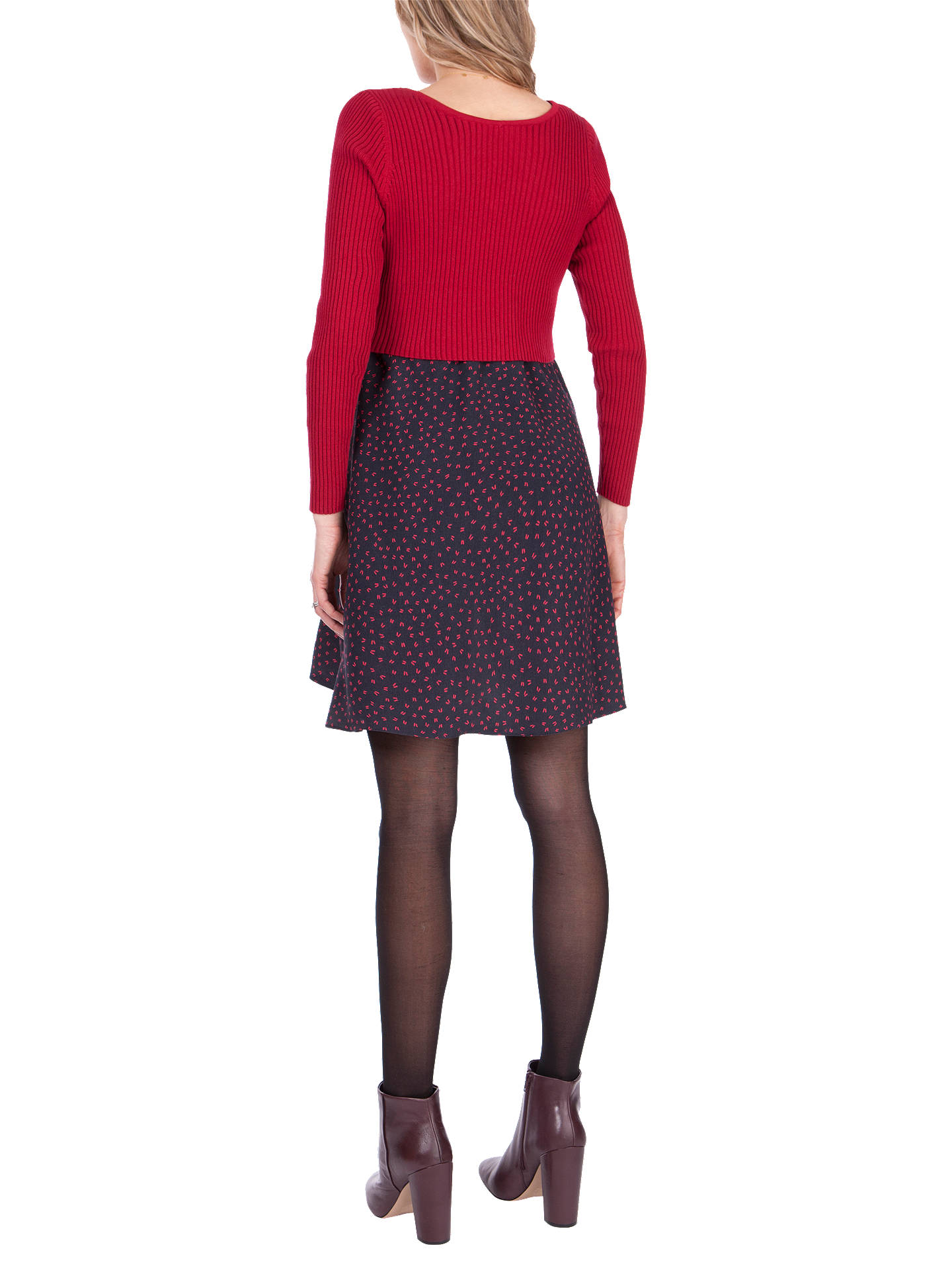 BuySéraphine Madeline Two Piece Maternity Nursing Dress, Red/Black, 8 Online at johnlewis.com
