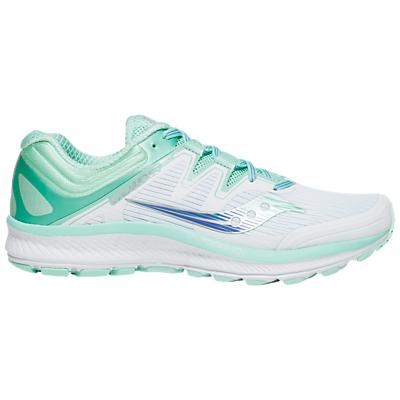 Saucony Guide ISO Women's Running Shoes, White/Aqua