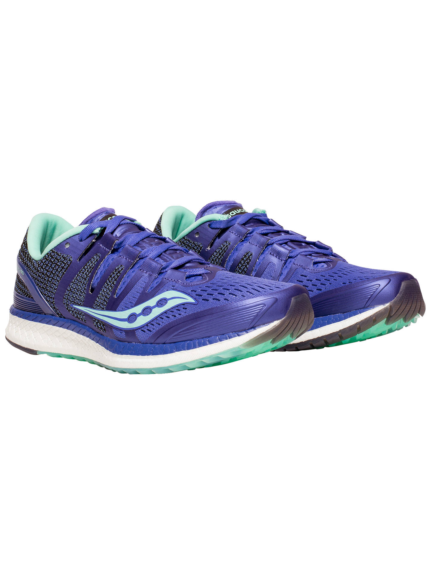 Buy Saucony Liberty ISO Women's Running Shoes, Violet/White, 4 Online at johnlewis.com