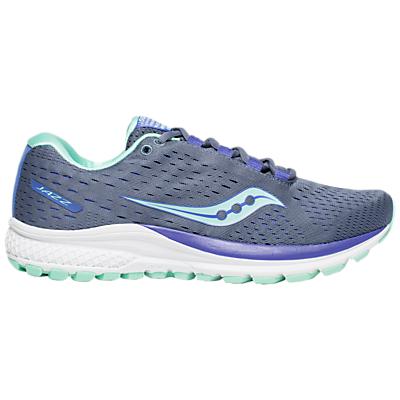 Saucony Jazz 20 Women's Running Shoes, Grey/Aqua/Violet