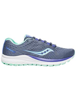Saucony Jazz 20 Women's Running Shoes, Grey/Aqua/Violet