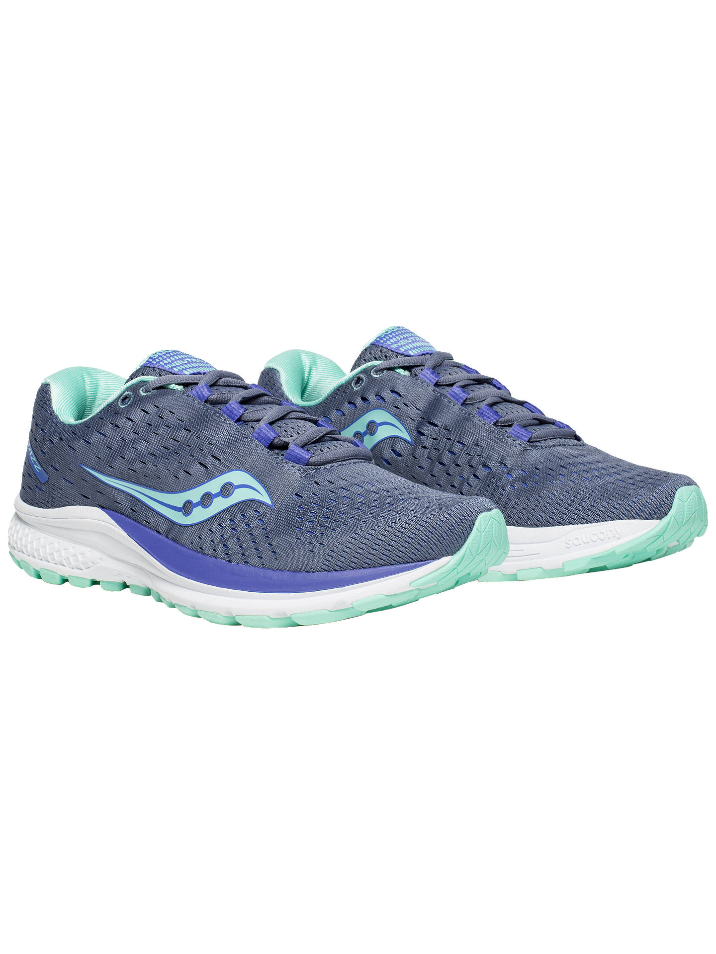 BuySaucony Jazz 20 Women's Running Shoes, Grey/Aqua/Violet, 4 Online at johnlewis.com