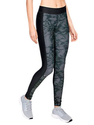 Under Armour Training Leggings, Black/White/Metallic