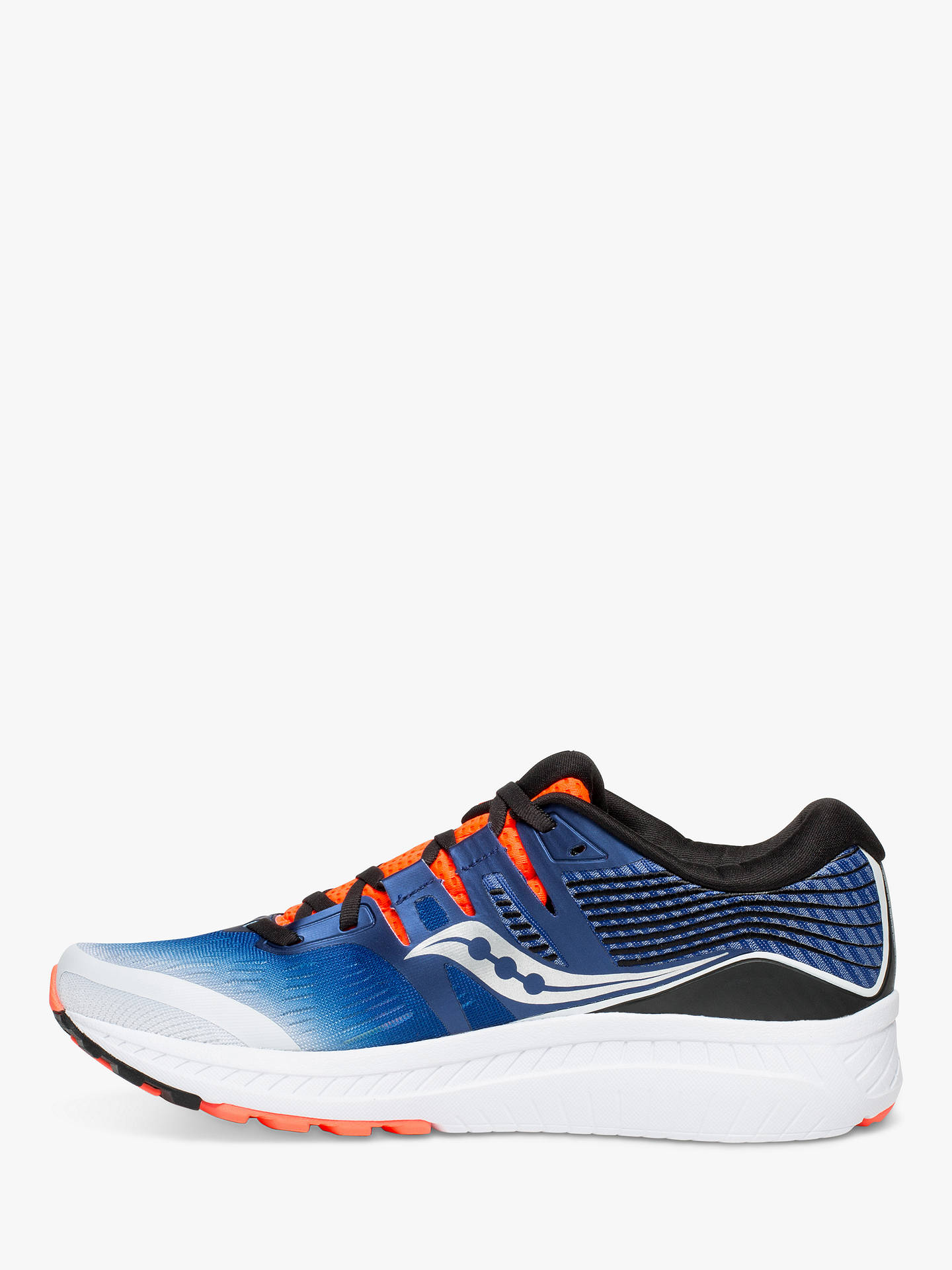 BuySaucony Ride ISO Men's Running Shoes, White/Blue/Vizired, 7 Online at johnlewis.com
