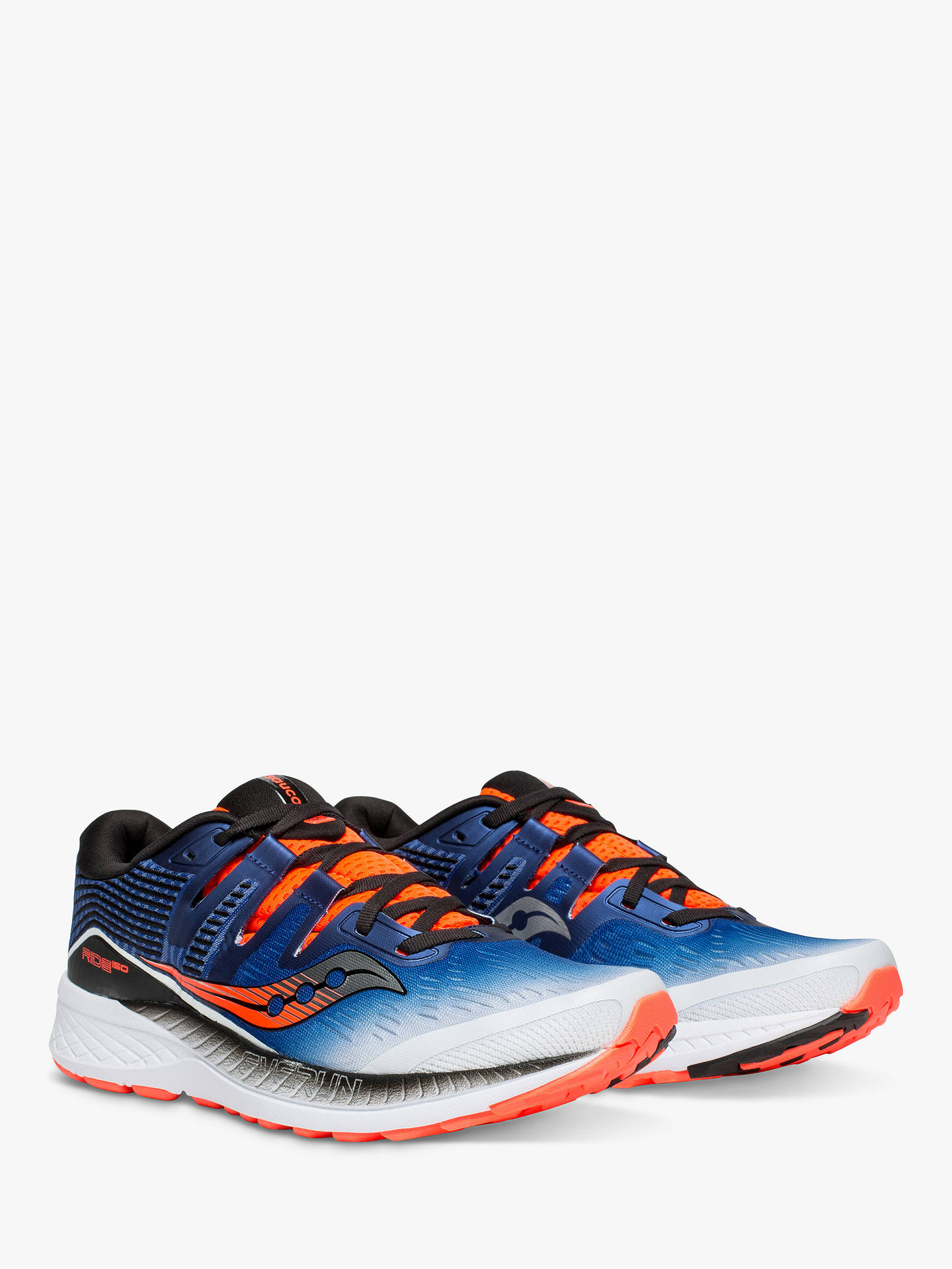 Buy Saucony Ride ISO Men's Running Shoes, White/Blue/Vizired, 7 Online at johnlewis.com