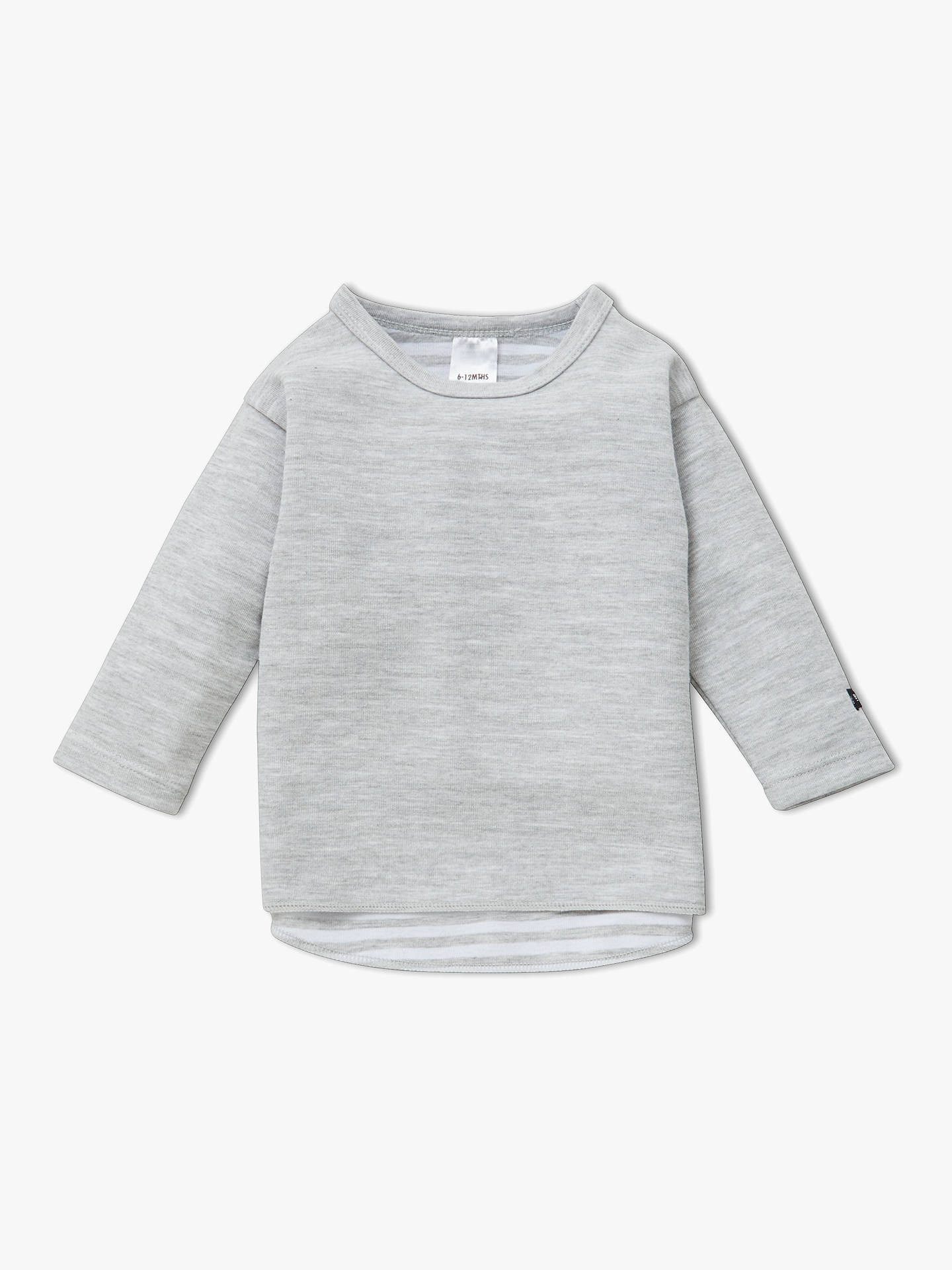 Buy Bonds Baby Long Sleeve Bodysuit, Grey, 0-3 months Online at johnlewis.com