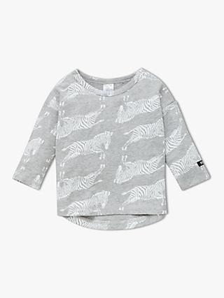 Bonds Baby Dancing Zebras Long Sleeve T-Shirt, Grey