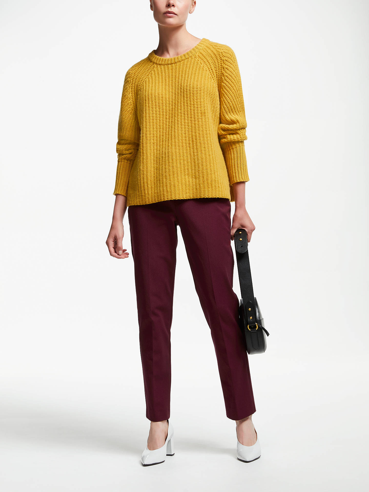 Buy John Lewis & Partners Dionne Trousers, Wine, 8 Online at johnlewis.com