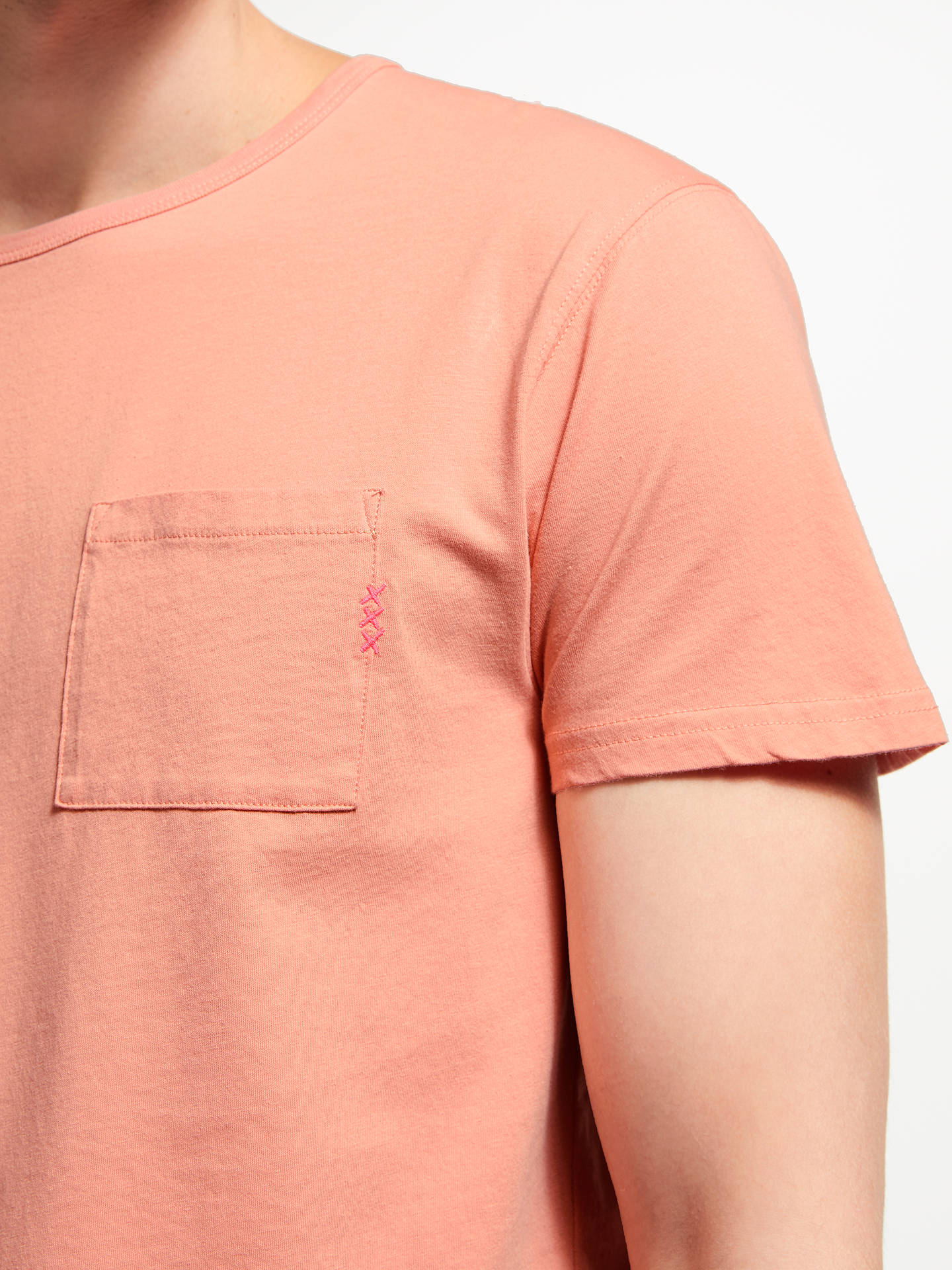 Buy Scotch & Soda Blauw Pocket T-Shirt, Pink, XL Online at johnlewis.com