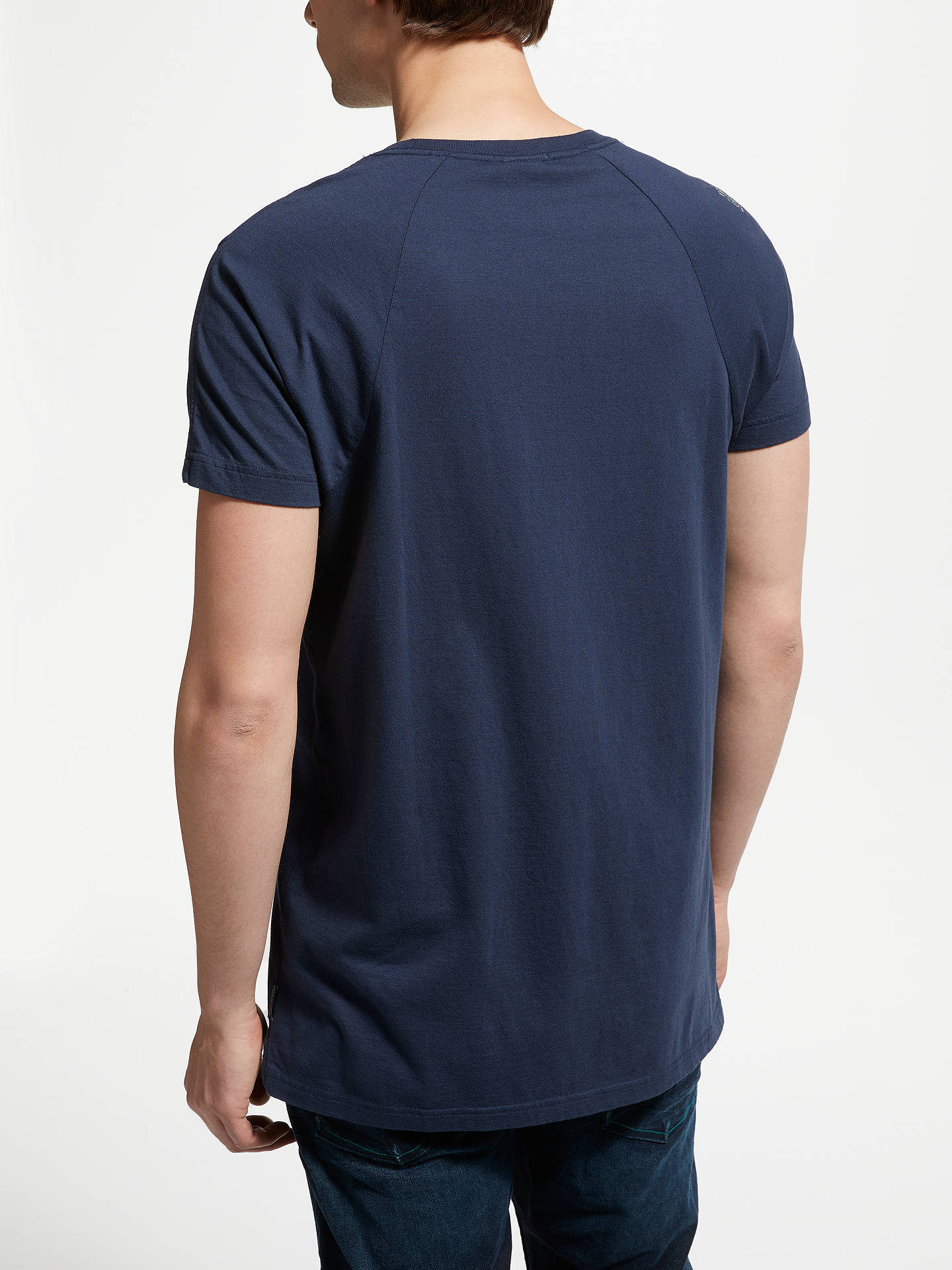 Buy Scotch & Soda Lamplight Poster Graphic T-Shirt, Blue, M Online at johnlewis.com