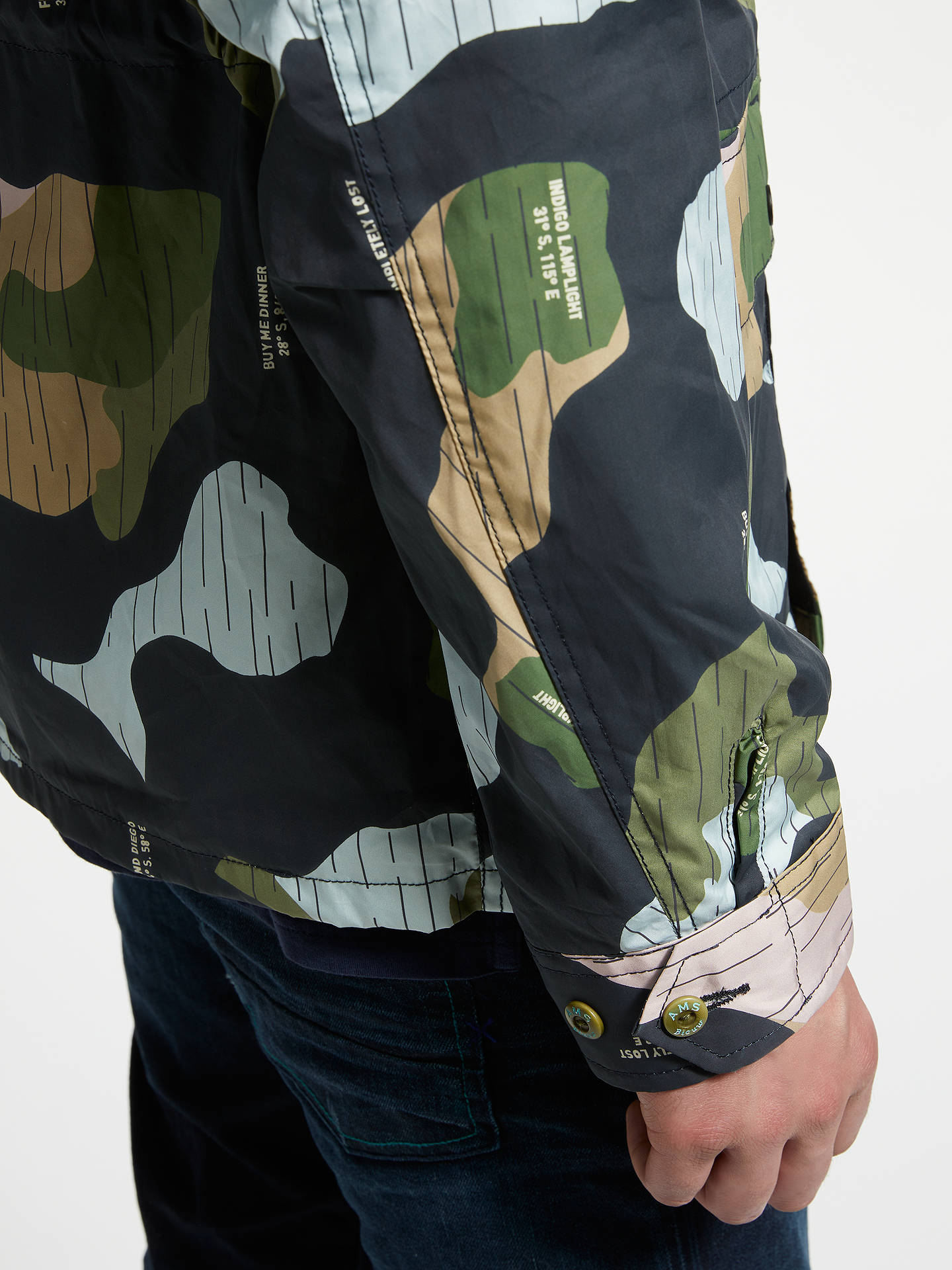 BuyScotch & Soda Camouflage Military Jacket, Multi, XL Online at johnlewis.com