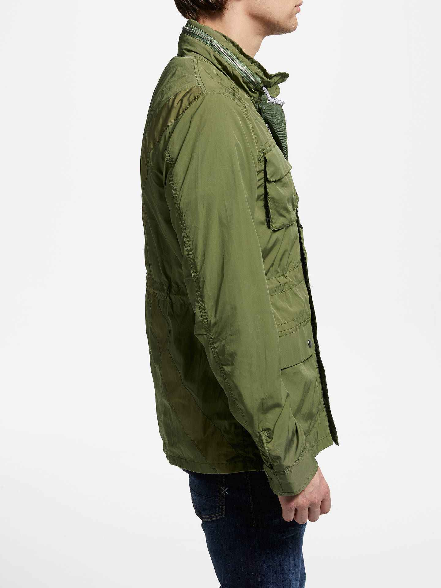 Buy Scotch & Soda Military Jacket, Green, M Online at johnlewis.com