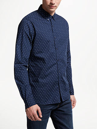 Buy Scotch & Soda Printed Long Sleeve Shirt, Blue, M Online at johnlewis.com
