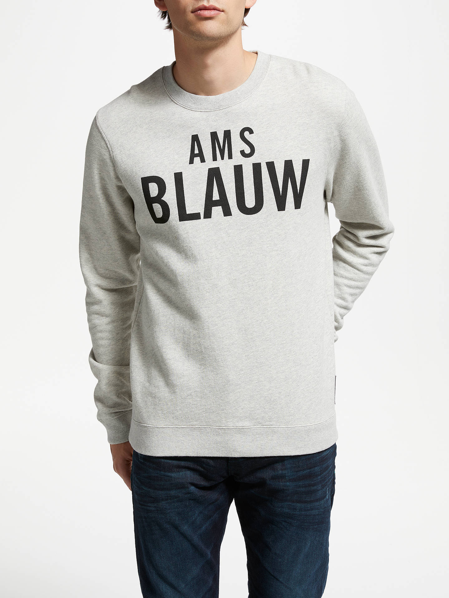 Buy Scotch & Soda Ams Blauw Sweatshirt, Grey, M Online at johnlewis.com