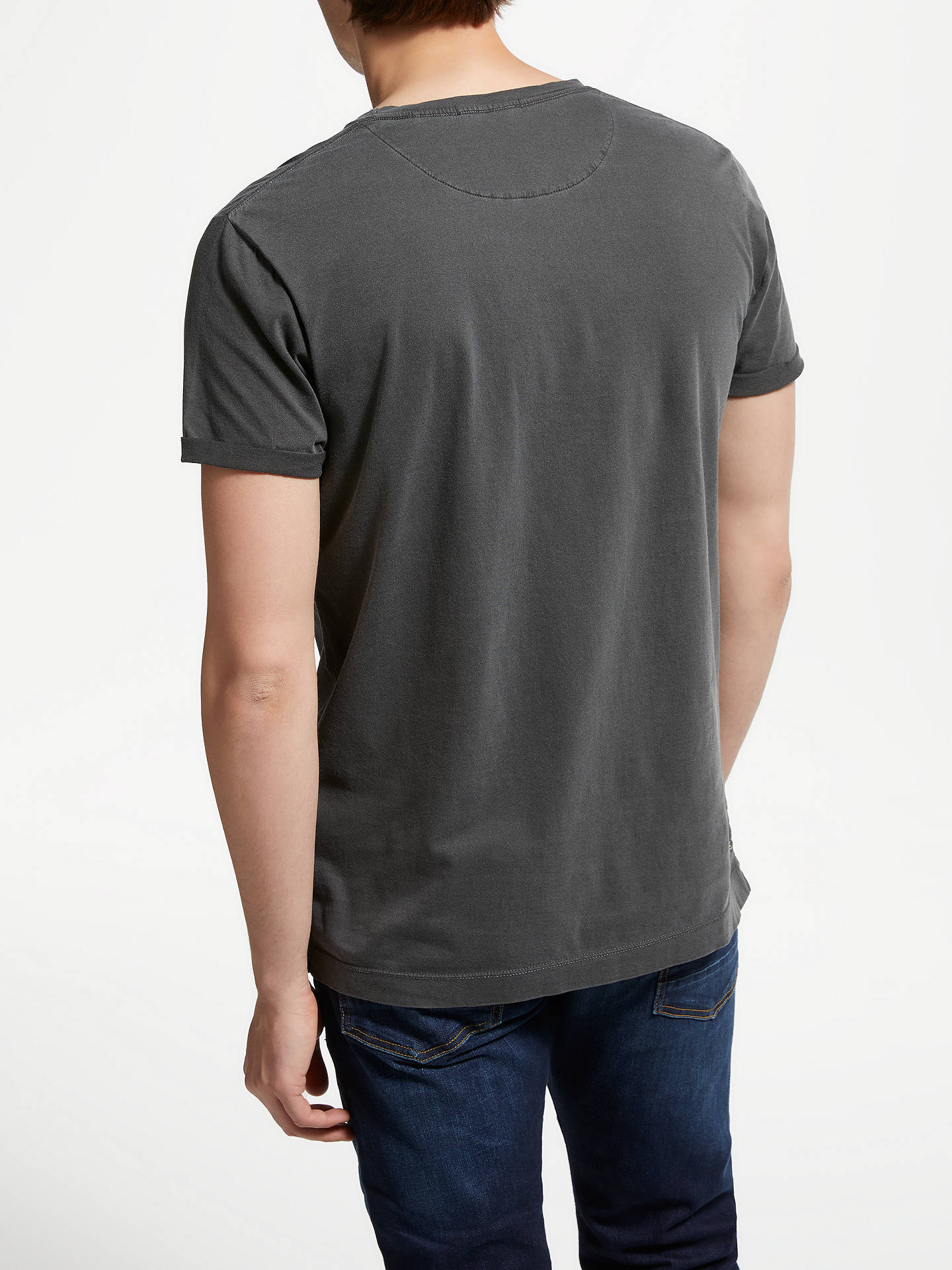BuyScotch & Soda Right Here Graphic T-Shirt, Washed Black, XL Online at johnlewis.com