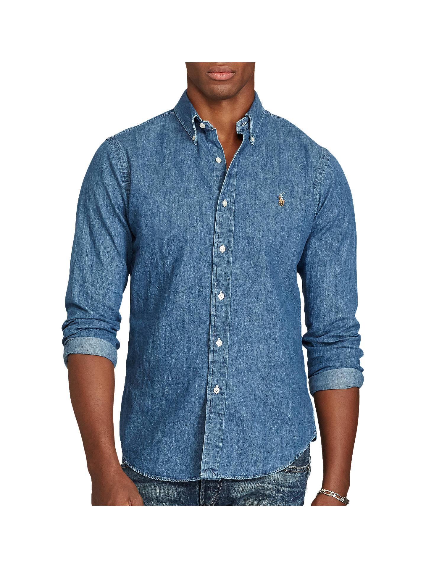 a6c729a0d1054 Buy Polo Ralph Lauren Long Sleeve Slim Fit Denim Shirt