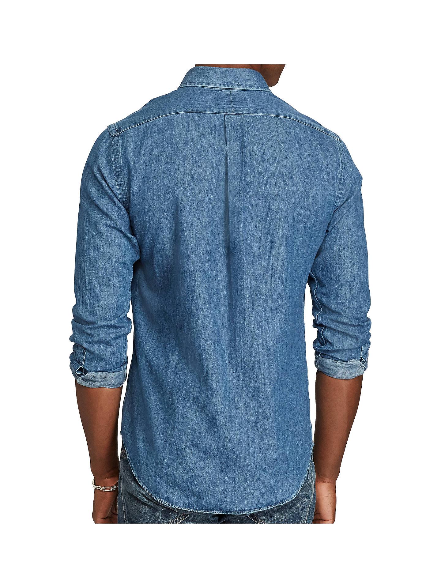 d08234ca3f4 ... Buy Polo Ralph Lauren Long Sleeve Slim Fit Denim Shirt