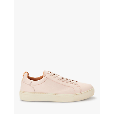 Selected Femme Donna Leather Trainers, Sand Dollar