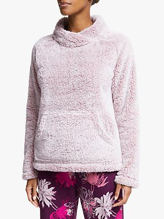 John Lewis & Partners Hi-Pile Fleece Snuggle Top, Pink