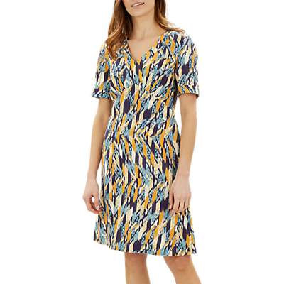 Jaeger Abstract Linen Dress, Multi