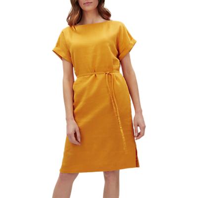 Jaeger Belted Linen Dress, Orange