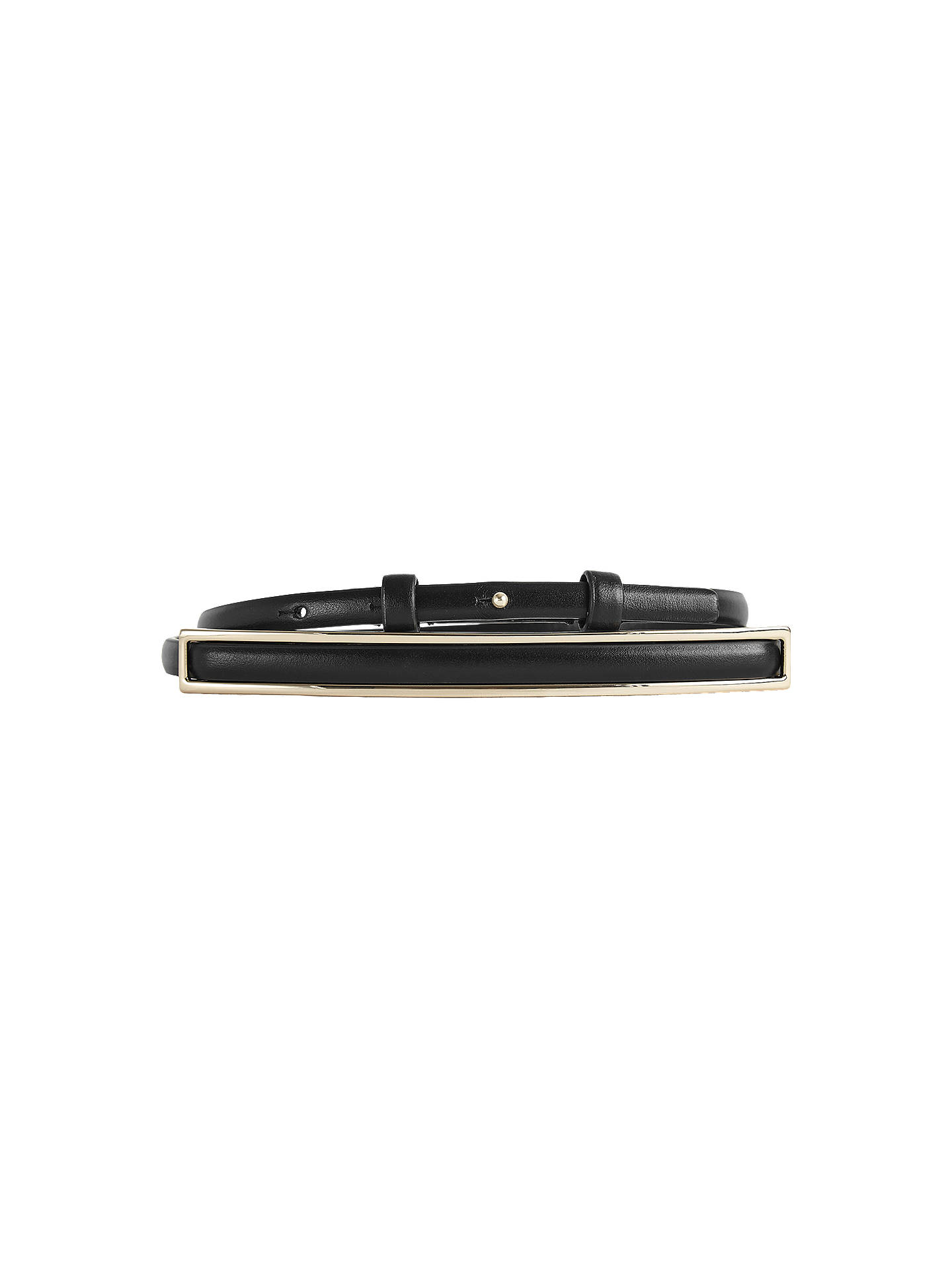Buy Reiss Goya Belt, Black, S Online at johnlewis.com