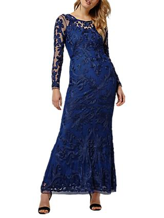 Phase Eight Collection 8 Aubree Tapework Dress, Sapphire Blue